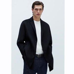 Men's Zara Man Black Wool blazer Size 40 US 🖤